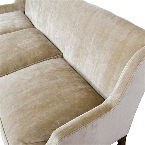 couch o 87 off o henry o henry taupe velvet couch sofas