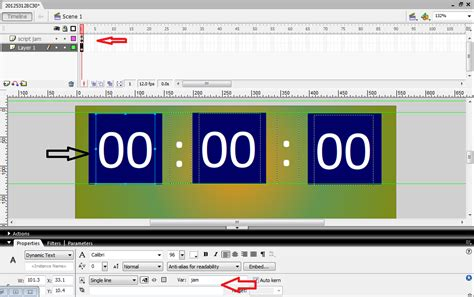 membuat powerpoint dengan flash cara membuat jam digital dengan macromedia flash 8