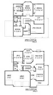 2 Story House Plan by Two Story House Plan