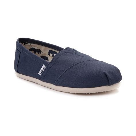 shoes for womens womens toms classic slip on casual shoe blue 350582