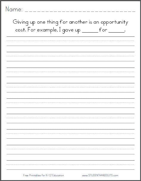 Writing Worksheets For 1st Grade by 1st Grade Writing Prompts Printables Printable Paper