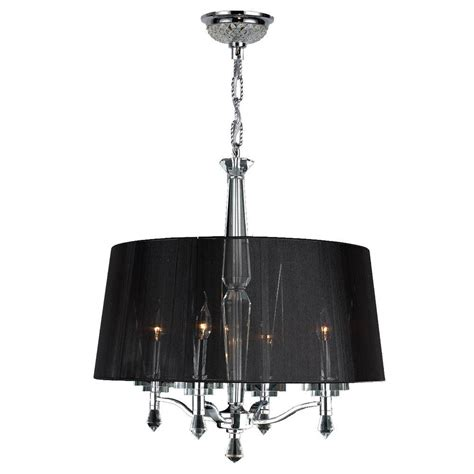 Drum Shade Chandelier Worldwide Lighting Gatsby 3 Light Chrome Chandelier With Black Drum Shade W83135c18