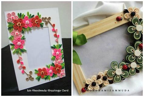 Ideas For Photo Frames Handmade - handmade quilling photo frames ideas www imgkid