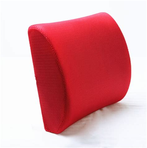 back cusion red high resilient memory foam seat back lumbar cushion