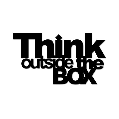 Think Outside Of The Box deco inscription think outside the box