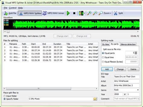 download mp3 cutter merger download visual mp3 splitter joiner v9 0 afterdawn