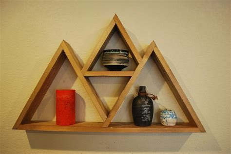 triangle wall shelf triangle floating wall shelf style 1