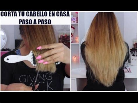 como cortar cabello como cortar el pelo en capas tu misma paso a paso