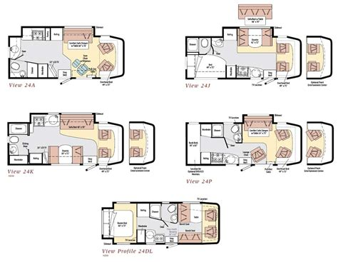 winnebago class c motorhomes floor plans winnebago view class c motorhome floorplans
