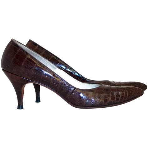 Kickers Ballet Suede Coklat Cofee 50s chocolate alligator heels for sale at 1stdibs