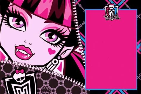 monster high birthday party blank invite wish i knew