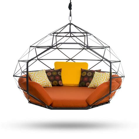 kodama zome kodama zomes hanging geodesic seats beds design milk