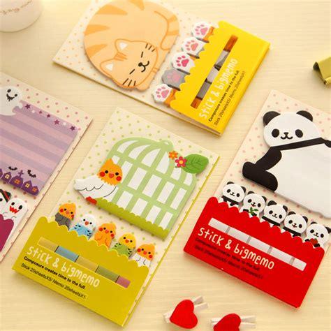 Mini Garden Memo It Post Its Memo Tempel Kecil kawaii animal memo pad bookmark sticker post it flags sticker sticky notes index tab