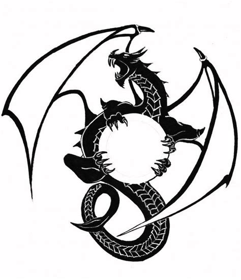 tattoo dragon logo dragon logo black and white by ed overson dragon logo