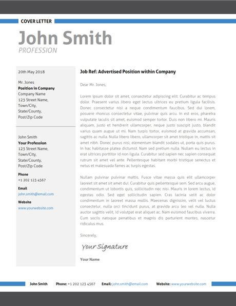 modern application letter template modern resume template trendy resumes