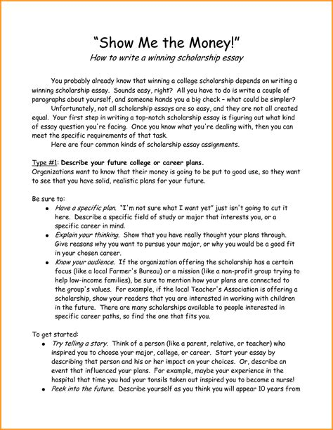 How To Start An Essay by 10 How To Start A Scholarship Essay Letter Template Word