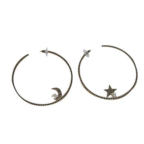 Metal Hoop Earrings chanel hoop earrings earrings metal golden ref 50778