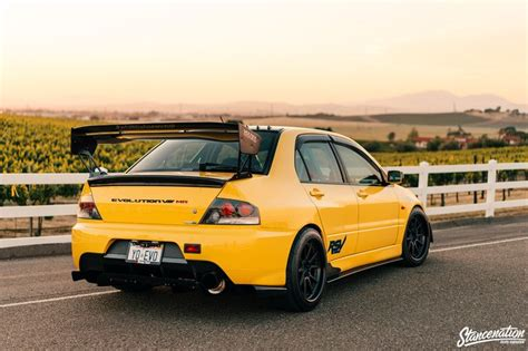 mitsubishi yellow perseverance is key yovani martinez s evo viii