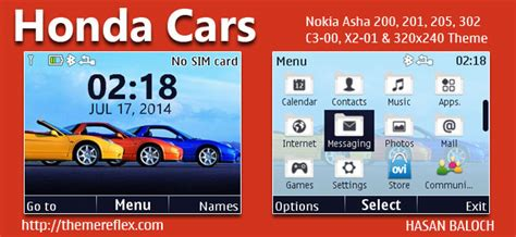 car theme nokia asha 210 honda cars theme for nokia c3 00 x2 01 asha 200 201