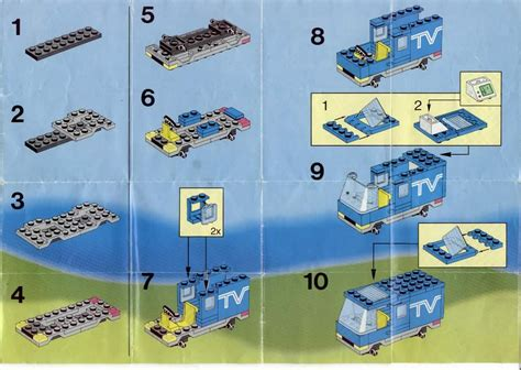 Stud Io Building Instructions by Lego Mobile Tv Studio Instructions 6661 City