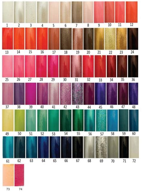 opi color chart opi nail color chart exposed nail 74