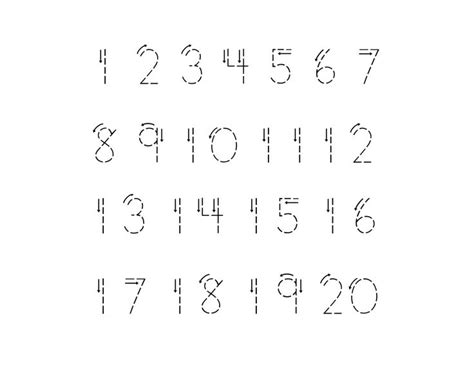 printable numbers 1 through 20 16 best images of numbers 1 through 20 worksheets