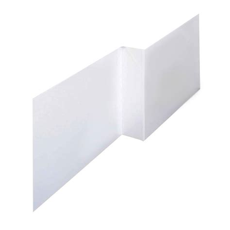 1675mm Shower Bath l shape shower bath panels high gloss white