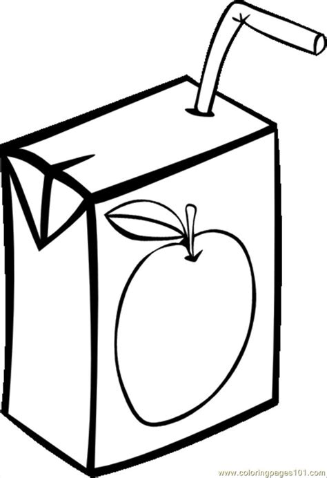 coloring pages apple juice box bw svg hi food fruits