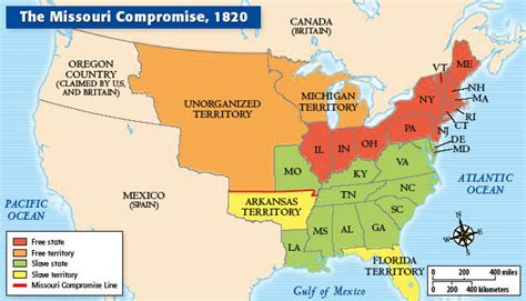 missouri compromise map map of the missouri compromise 1820