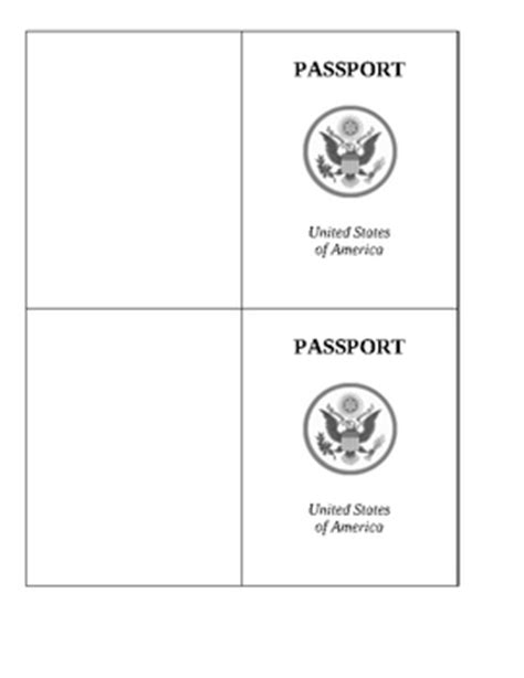 passport template geography passport template and