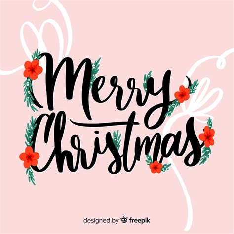 merry christmas lettering eve decoration vector