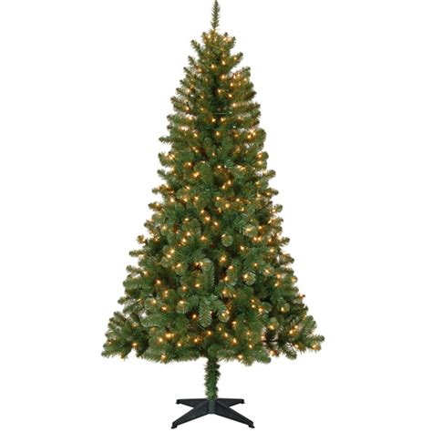 holiday time pre lit artificial christmas tree walmart com