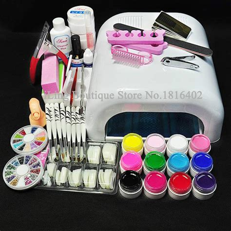 nail design art kit professional full set uv gel kit nail art set 36w nail