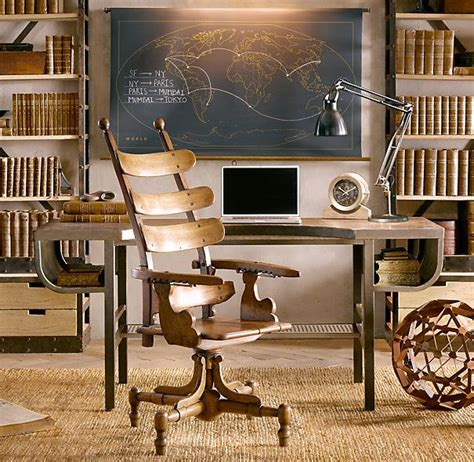 restoration hardware office desk military chalkboard world map 640 outlined but unlabeled