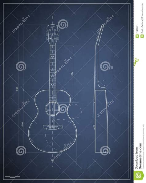 blueprint online free blueprint six acoustic guitar stock vector image 21420621