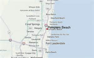 where is pompano florida on the map pompano location guide