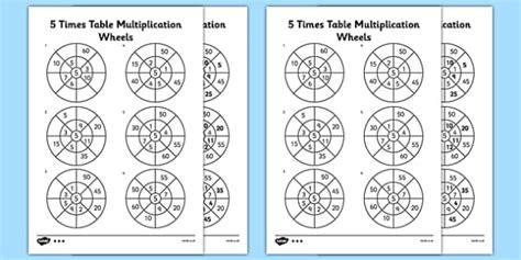 wheels activity table 5 times table multiplication wheels worksheet activity sheet