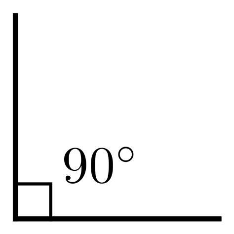 Ninety Degrees right angle