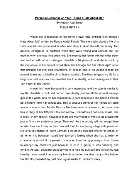 Reflection Essay On Writing by Reflective Essay Exles