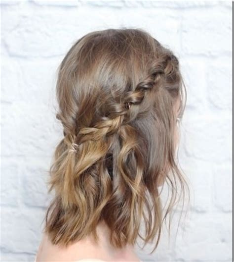crown braid short hair hairstyles 20 gorgeous prom hairstyles for short hair
