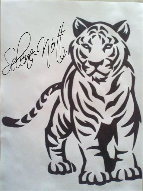 tigre tribal tattoo by sapphire ks on deviantart