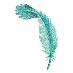 teal feather embroidery designs machine embroidery