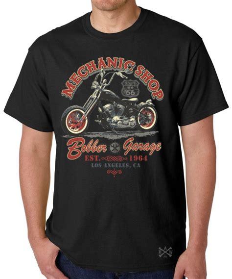 mechanic shop bobber garage t shirt back alley wear