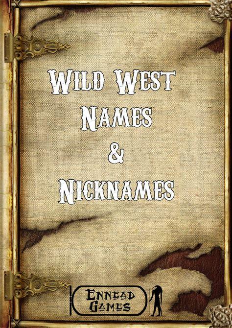 western names west names nicknames ennead generators rpgnow