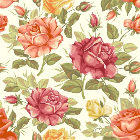 flower pattern vintage free download vector seamless retro flower pattern graphic free download
