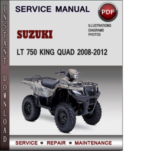 small engine repair manuals free download 2008 suzuki xl7 interior lighting suzuki lt 750 king quad 2008 2012 factory service repair manual dow
