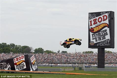 Foust Wheels Truck Jump Stunt Driver Foust Sets 332ft Jump Record Daily