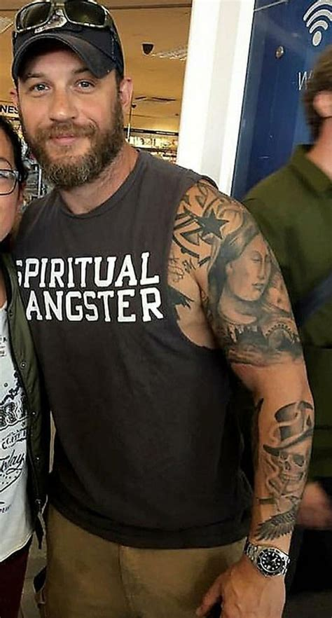 tom hardy tattoos what s the meaning tom hardy s tattoos