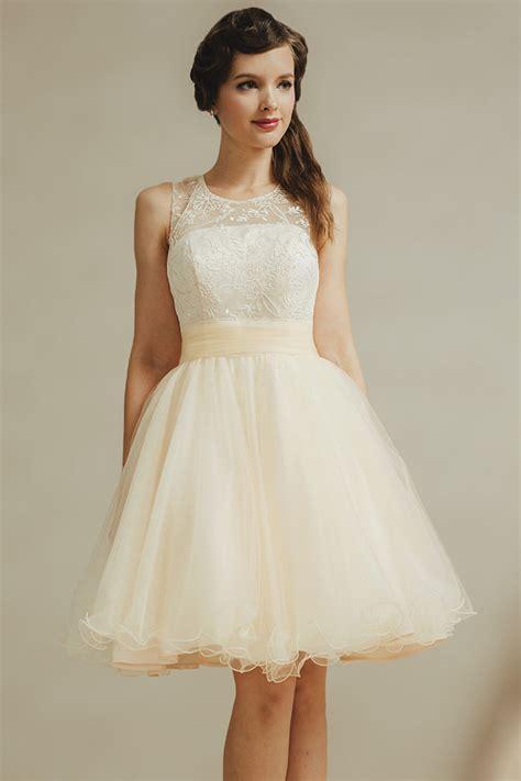 Robe De Temoin Mariage Zalando - romantique mini robe pour t 233 moin de mariage 224 col rond