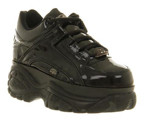 Lace Up Patent Platform Shoes womens buffalo platform lace up black patent flats shoes